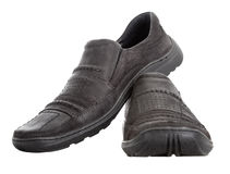 Men's walking shoes nubuck Stock Photo