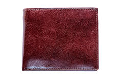 Men`s wallet brown color made of genuine leather Royalty Free Stock Photography