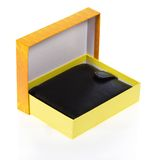 Men's wallet in an open gift box Royalty Free Stock Image