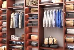 Men`s wardrobe Royalty Free Stock Photo