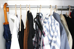 Men's wardrobe Stock Photos