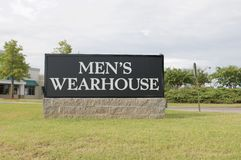 Men's Warehouse Sign Stock Images