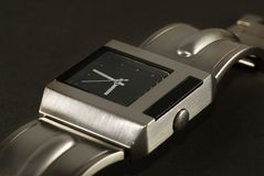 Men's watch. Picture of a Modern men's watch Stock Image