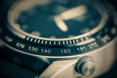 Men`s watch closeup. With selective sharpness in the foreground and with photo effect stock photography