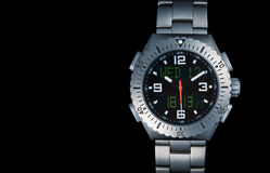 Men`s watch with titanium strap Stock Photography