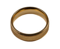 Men's wedding ring Stock Image