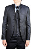 Men's wedding suit with a vest Stock Images