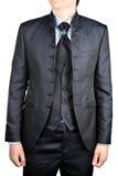 Men's wedding suit with a vest stock images