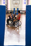 Men's Wheelchair Basketball Action Royalty Free Stock Photography