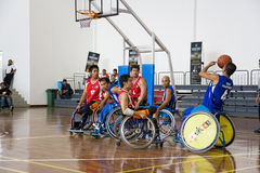 Men's Wheelchair Basketball Action Royalty Free Stock Photo