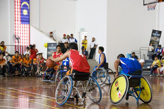Men's Wheelchair Basketball Action Royalty Free Stock Images