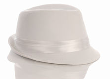 Men's white dress hat Royalty Free Stock Images