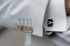 Free Men S White Linen Suit And Shirt Cuff Royalty Free Stock Photography - 26932577