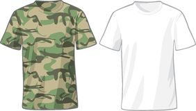 Men's White and Military Shirts template Royalty Free Stock Images