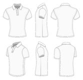 Men's white short sleeve polo shirt. Stock Photo