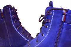 Men`s winter boots isolated. Men`s winter warm boots isolated on the white background Royalty Free Stock Image