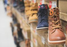 Men`s winter shoes. royalty free stock images