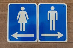 Men`s and Women`s Restrooms Royalty Free Stock Images