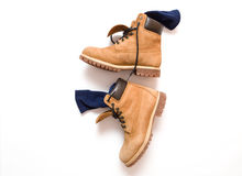 Men's Work Boots Royalty Free Stock Photos