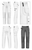 Men's working trousers design template Royalty Free Stock Image