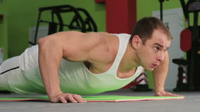 Men's workout stock video footage