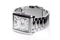 Men's wrist watch on white background. Men's wrist watch studio shoot Stock Photos