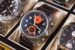 Men's Wristwatch. A beautiful men's wristwatch collection Royalty Free Stock Image