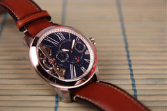 Men`s Wristwatch with Strap Royalty Free Stock Image