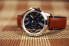 Men`s Wristwatch with Strap Royalty Free Stock Photography