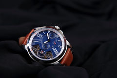 Men`s Wristwatch with Strap Royalty Free Stock Photos