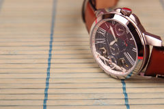 Men`s Wristwatch with Strap Stock Image