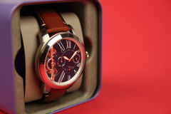Men`s Wristwatch with Strap Stock Photos