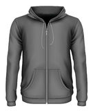 Men`s zip-up hoodie royalty free illustration
