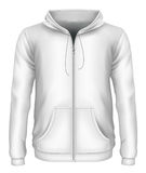 Men`s zip-up hoodie stock illustration