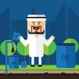 Men Saudi sell the oil stock illustration
