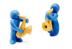 Men With Saxophone Royalty Free Stock Images