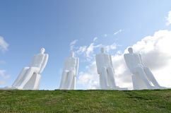 The Men at Sea monument in Esbjerg, Denmark Stock Photo