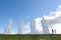 The Men at Sea monument in Esbjerg, Denmark Royalty Free Stock Images