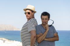 Men seaside holidays Royalty Free Stock Photography