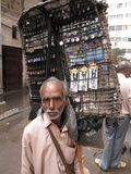 Men sells souvenirs Stock Photo