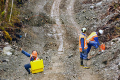 Seismic reflective survey Stock Images