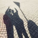 Men shadows Royalty Free Stock Images