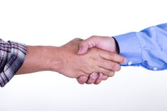 Men shake hands each other Royalty Free Stock Image