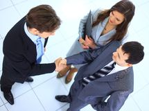 Men shaking hands. Two successful business men shaking hands Stock Image