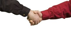 Men shaking hands Stock Images