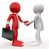Men shaking hands as a sign of friendship and agre Stock Images