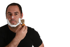 Men with shaving brush Royalty Free Stock Images