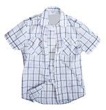 Men shirt. Isolated on white Stock Photography