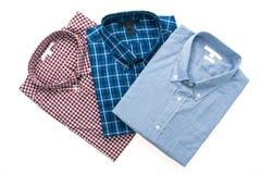 Men shirt for clothing. Isolated on white background Royalty Free Stock Photo