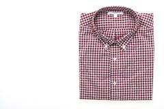 Men shirt for clothing. Isolated on white background Stock Image